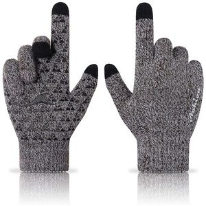 Unisex Anti-Slip Knit Gloves Touchscreen Thermal